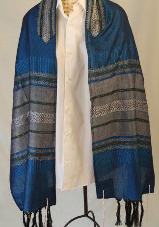 Rowan - Men's Handmade Woven Silk Tallit-0