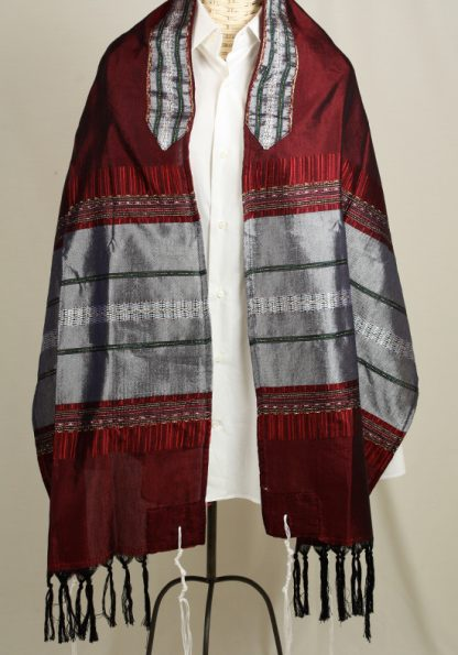 Keith - Men's Handmade Woven Silk Tallit-0