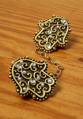 Gold Hamsa w/Pearls-0