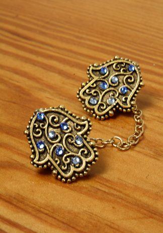 Gold Hamsa w/Blue-0