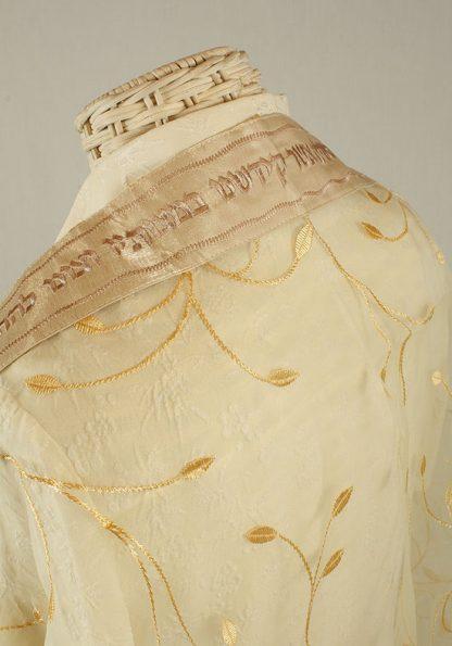 Maya - Women's Handmade Sheer Organza Tallit-2094