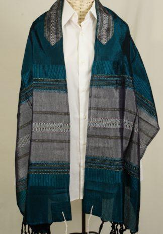 Clint - Men's Handmade Woven Silk Tallit-0