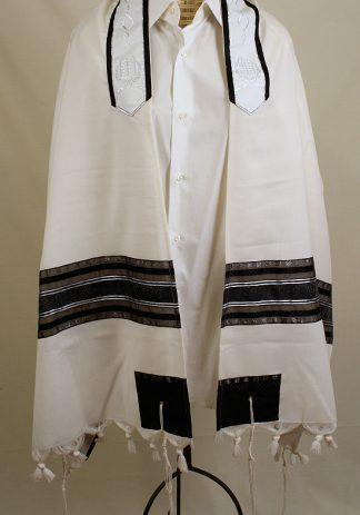 Ezra - Men's Handmade Wool Tallit-0