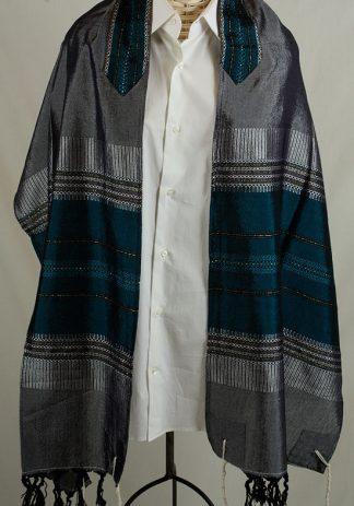 Garrett - Men's Handmade Woven Silk Tallit-0