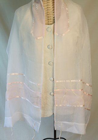 Jane - Women's Handmade Sheer Organza Tallit-0
