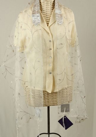 Jessica - Women's Handmade Sheer Organza Tallit-0