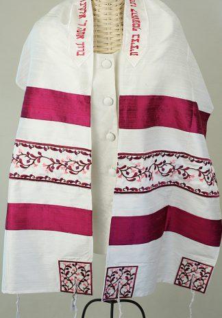 Magenta - Women's Handmade Silk Tallit-0