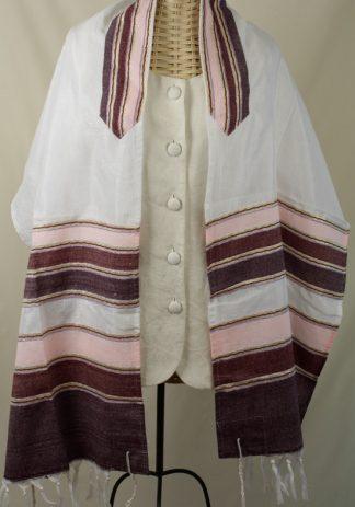 Melanie - Women;s Handmade Woven Silk Tallit-0