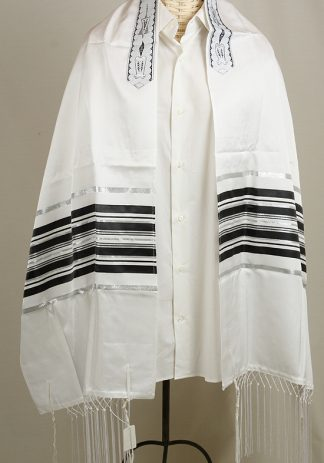 Tzvi - Men's Traditional Cotton and Silk Tallit-0