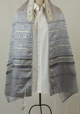 Zachary - Men's Traditional Rayon/Poly Tallit-0