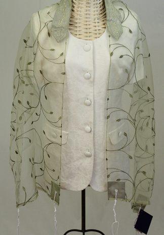 Adora - Women's Handmade Sheer Organza Tallit-0