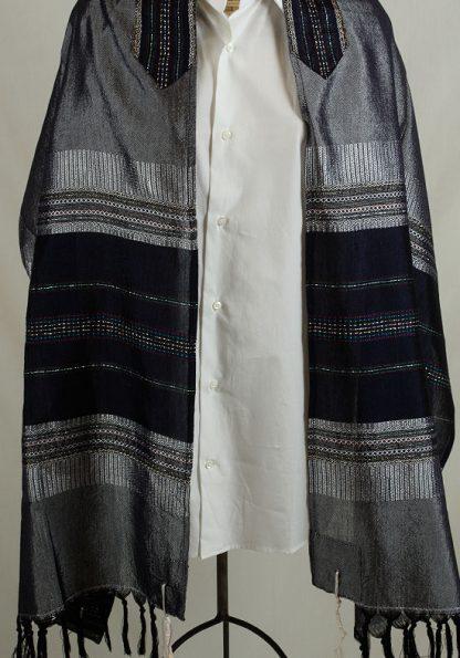 Aidan - Men's Handmade Woven Silk Tallit-0