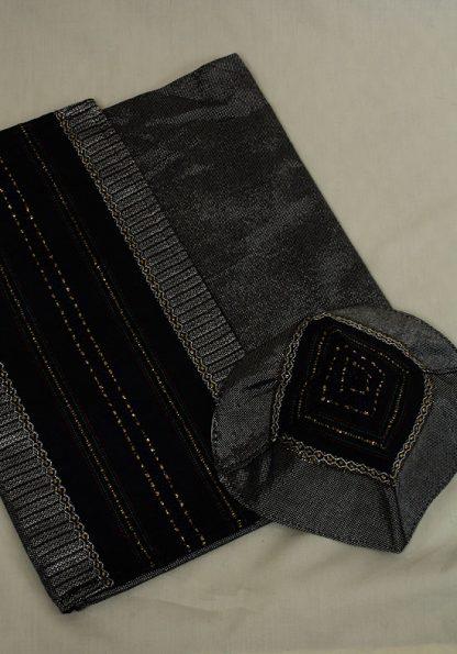 Aidan - Men's Handmade Woven Silk Tallit-339