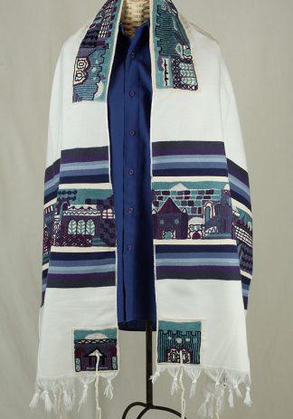 Blake - Men's Handmade Woven Cotton Tallit-0