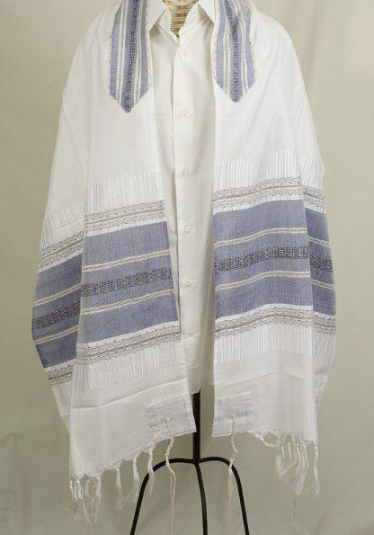 Caden - Men's Handmade Woven Silk Tallit -0