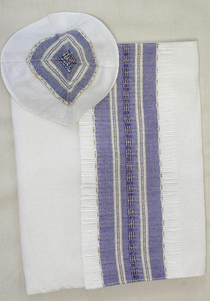 Caden - Men's Handmade Woven Silk Tallit -400