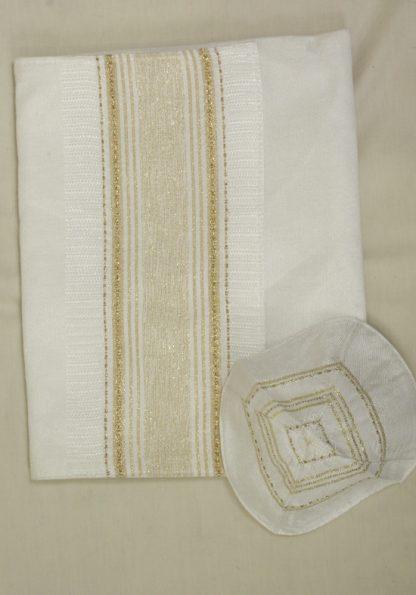 Casey - Handmade Unisex Tallit, Woven Silk-822