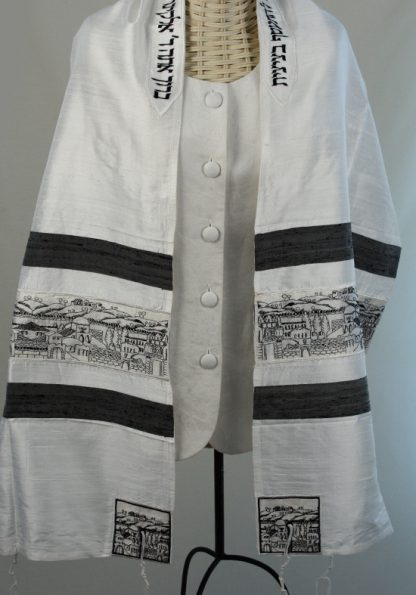 Cory - Unisex Handmade Silk Tallit-0