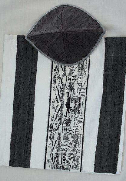 Cory - Unisex Handmade Silk Tallit-347