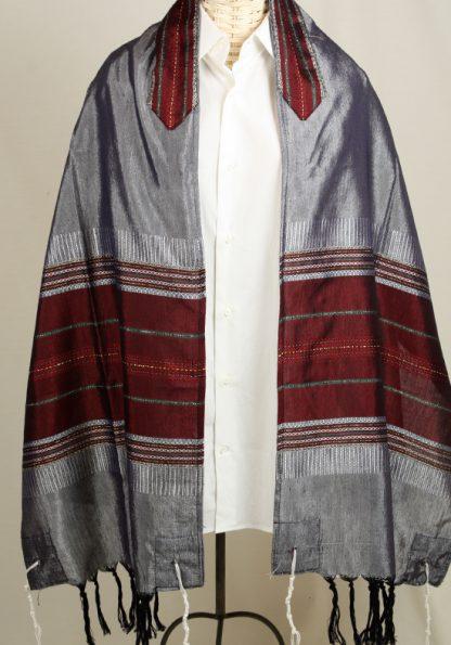 Dan - Men's Handmade Woven Silk Tallit-0