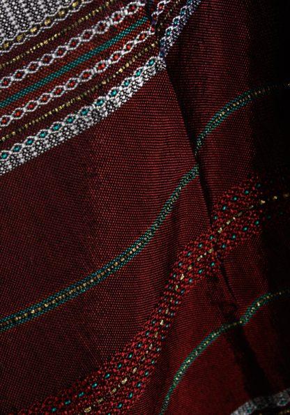Dan - Men's Handmade Woven Silk Tallit-355