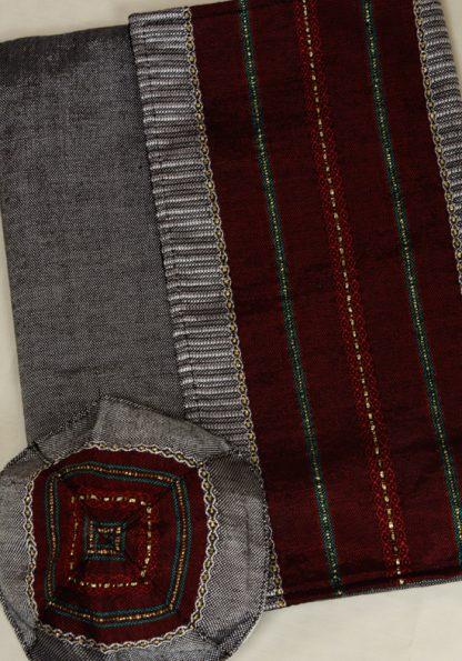 Dan - Men's Handmade Woven Silk Tallit-354