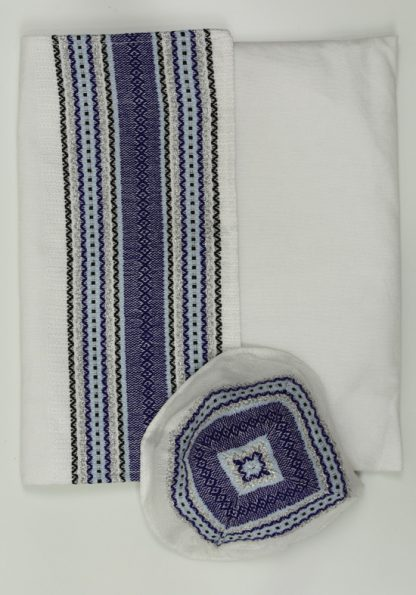 Dane - Men's Handmade Handwoven Silk Tallit-417