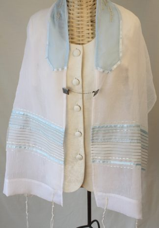 Edya - Women's Handmade Sheer Organza Tallit-0