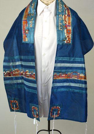 Gedalya - Unisex Handmade Raw Silk Tallit-0