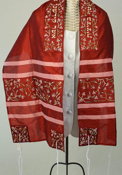 Ginger - Women's Handmade Silk Tallit-0