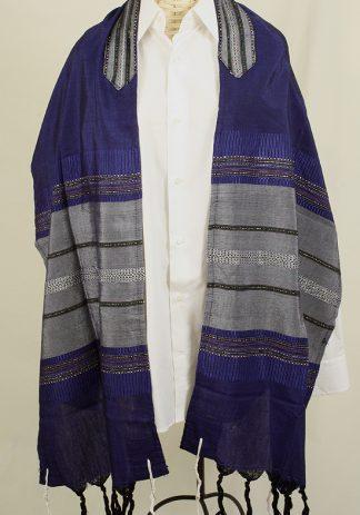 Hiram - Men's Handmade Woven Silk Tallit-0