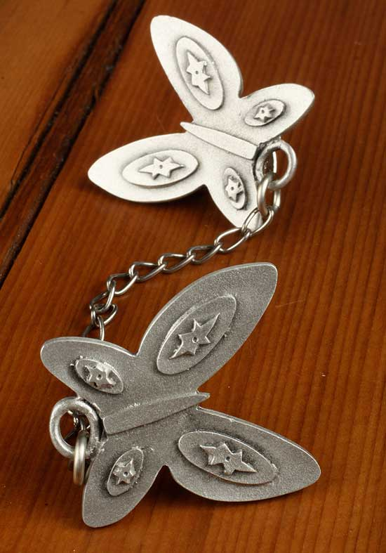 Pewter Butterfly Clips-0