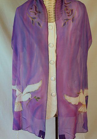 Jillian - Women's handmade Silk Tallit-0