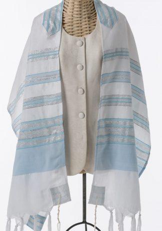 Anna - Women's Handmade Woven Silk Tallit-0