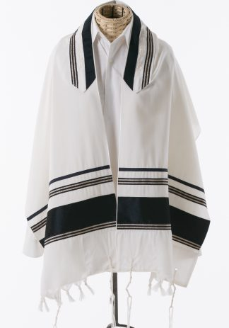 Allen - Men's Handmade Wool Tallit-0