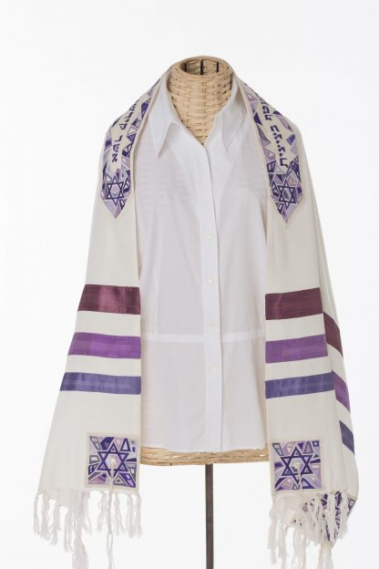 Kelsey - Women's Handmade Cotton and Silk Tallit-0