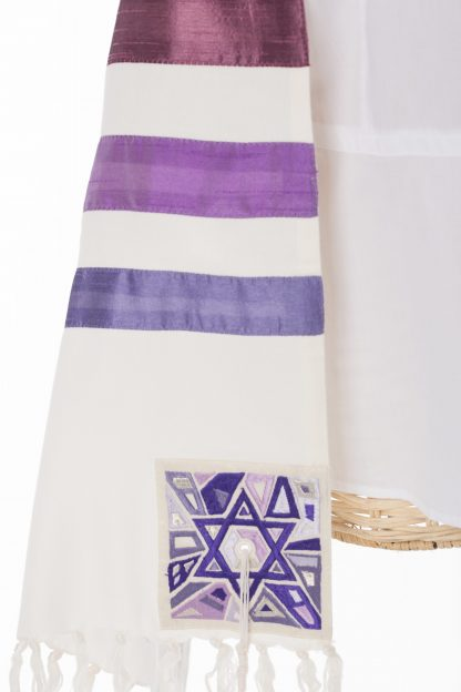 Kelsey - Women's Handmade Cotton and Silk Tallit-2153