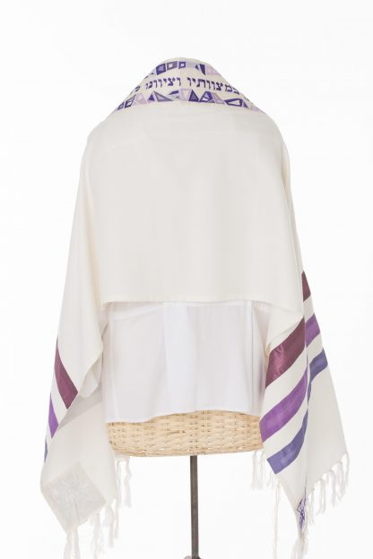 Kelsey - Women's Handmade Cotton and Silk Tallit-2156