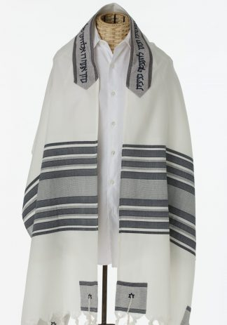 Logan - Men's Traditional Handmade Viscose Tallit-0