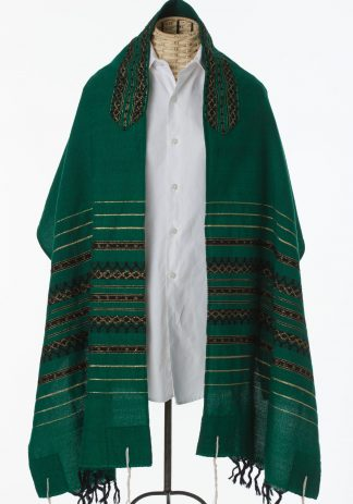 Caleb - Men's Handmade Handwoven Wool Tallit-0