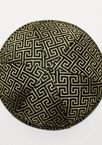 Black with Gold Geometric-0