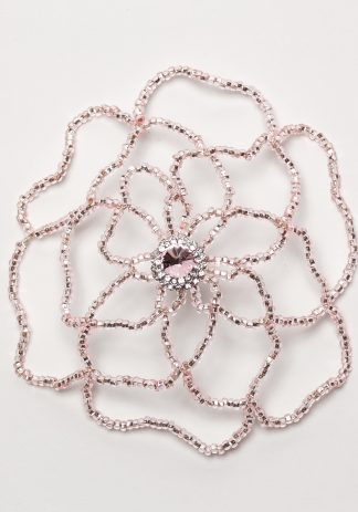 Pink Flower w/ Crystal-0