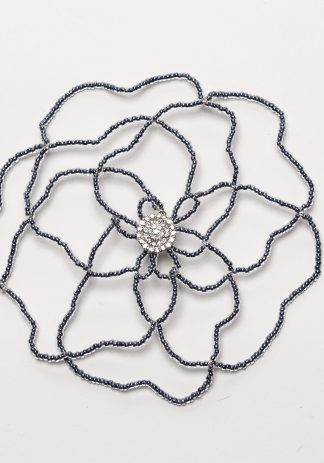 Pewter Flower w/ Crystal-0
