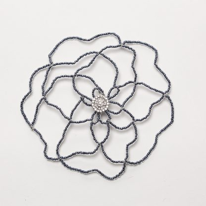 Pewter Flower w/ Crystal-0