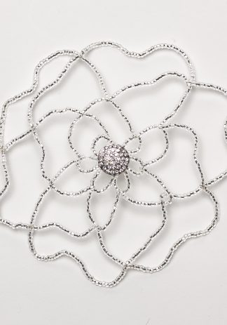 Silver Lined Crystal Flower-0
