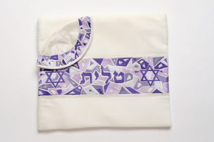 Kelsey - Women's Handmade Cotton and Silk Tallit-2155