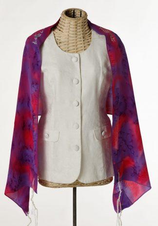 Scarlett - Women's Handmade Silk Tallit-0