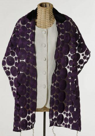 Violet - Women's Handmade Sheer Linen Tallit-0