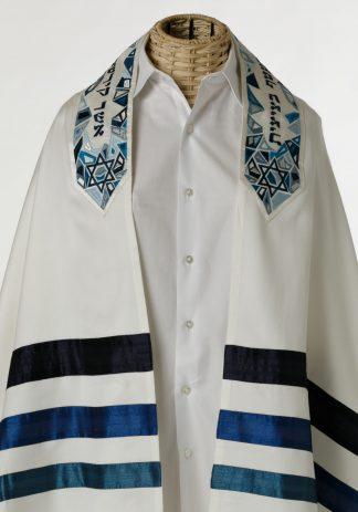 Jaxson - Unisex Handmade Brushed Cotton and Silk Talliot-0