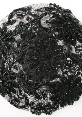 Black Beaded Floral-0